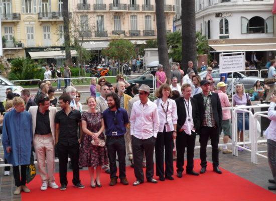 J-C Lie et une partie de l'équipe de La Gordini à Cannes